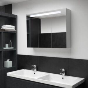 Pood24 LEDiga vannitoa peegelkapp, 88 x 13 x 62 cm