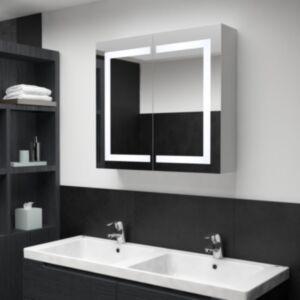 Pood24 LEDiga vannitoa peegelkapp, 80 x 12,2 x 68 cm