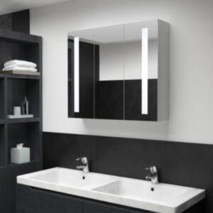 Pood24 LEDiga vannitoa peegelkapp, 89 x 14 x 62 cm