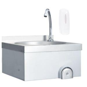 Pood24 kätepesuvalamu kraaniga, roostevaba teras