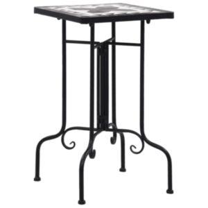 Pood24 mosaiikplaadiga laud, must ja valge, keraamiline