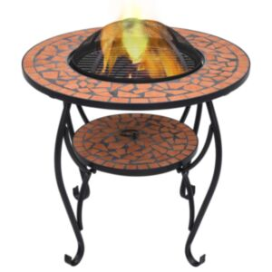 Pood24 tuleasemega laud, terrakota, 68 cm, keraamiline