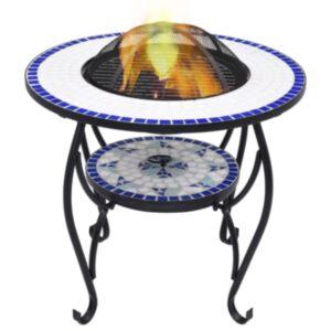 Pood24 tuleasemega laud, sinine ja valge, 68 cm, keraamiline