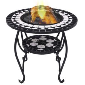 Pood24 tuleasemega laud, must ja valge, 68 cm, keraamiline