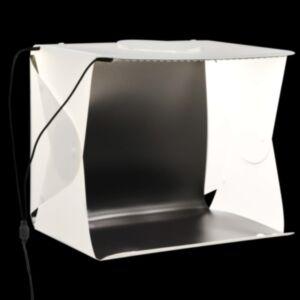 Pood24 kokkupandav LED fotostuudio valguskast 40x34x37 cm plast, valge