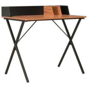 Pood24 laud, must ja pruun, 80 x 50 x 84 cm