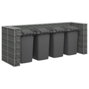 Pood24 gabioonsein prügikastidele, tsingitud teras, 320 x 100 x 120 cm