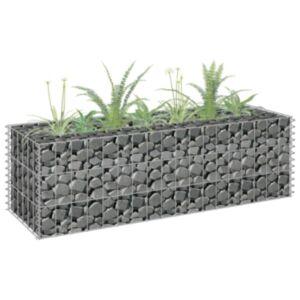 Pood24 gabioon-taimekast, tsingitud teras, 90 x 30 x 30 cm