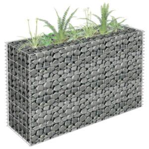 Pood24 gabioon-taimekast, tsingitud teras, 90 x 30 x 60 cm