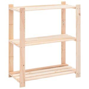 Pood24 3-korruseline hoiuriiul 80 x 38 x 90 cm männipuit 150 kg