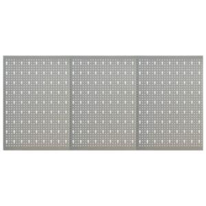 Pood24 seinale paigaldatav pulkadega paneel, 3 tk, 40 x 58 cm, teras