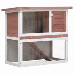 Pood24 õues kasutamiseks mõeldud küülikupuur, 1 uks, pruun, puit
