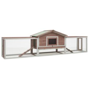 Pood24 jänesepuur, kohvipruun, 303 x 60 x 86 cm männi- ja kuusepuidust