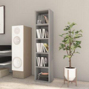 Pood24 CD-kapp, hall, 21 x 16 x 93,5 cm, puitlaastplaat