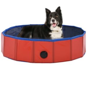 Pood24 kokkupandav koertebassein, punane, 80 x 20 cm, PVC