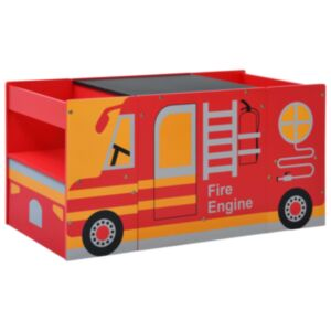 Pood24 3-osaline laste laua- ja toolikomplekt, tuletõrjeauto, puit