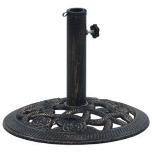Pood24 päikesevarju alus, must ja pronks, 9 kg 40 cm, malm