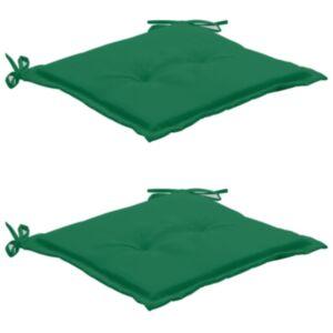 Pood24 aiatooli istmepadjad 2 tk roheline 50 x 50 x 3 cm