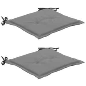 Pood24 aiatooli istmepadjad 2 tk must ja hall 50 x 50 x 3 cm