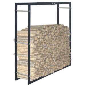 Pood24 küttepuude rest, must, 100 x 25 x 100 cm, teras
