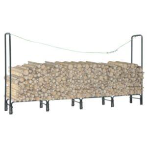 Pood24 küttepuude rest antratsiithall 240 x 35 x 120 cm teras