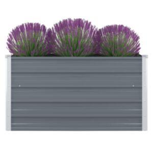 Pood24 kõrge peenrakast 100 x 100 x 45 cm, tsingitud teras, hall