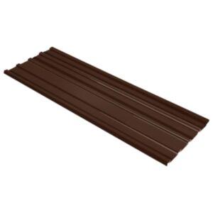 Pood24 katusepaneel 12 tk tsingitud terasest, pruun