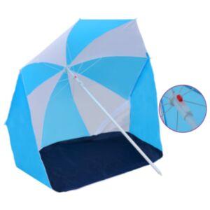 Pood24 varjualune, sinine ja valge, 180 cm, kangas