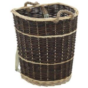 Pood24 küttepuude seljakott kanderihmadega 44,5x37x50 naturaalne paju