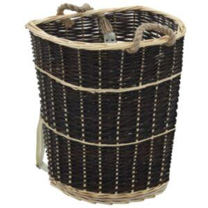 Pood24 küttepuude seljakott kanderihmadega 57x51x69 cm naturaalne paju