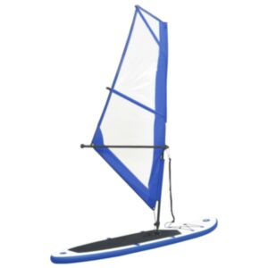Pood24 täispumbatav aerusurfilaua komplekt purjega, sinine ja valge
