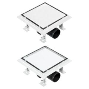 Pood24 duši äravoolusüsteem, kaks ühes kate, 15x15 cm roostevaba teras