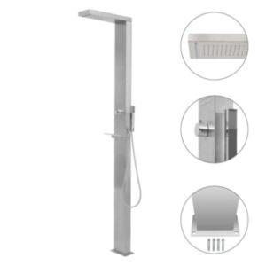 Pood24 aia dušipaneeli süsteem, roostevaba teras, kandiline
