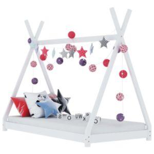Pood24 lastevoodi raam, valge, männipuit, 90 x 200 cm