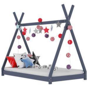 Pood24 laste voodiraam, hall, tugevast männipuidust, 90 x 200 cm