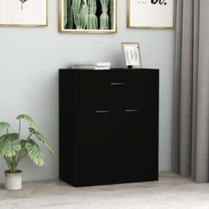 Pood24 puhvetkapp, must, 60 x 30 x 75 cm, puitlaastplaat