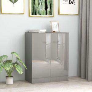 Pood24 puhvetkapp kõrgläikega hall 60 x 30 x 75 cm, puitlaastplaat