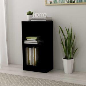 Pood24 raamaturiiul, must, 40 x 24 x 75 cm, puitlaastplaat
