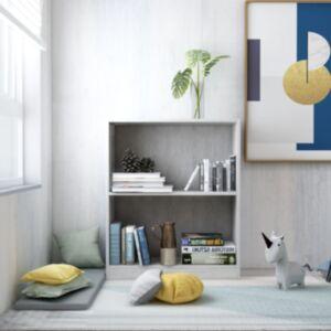 Pood24 raamaturiiul, betoonhall, 60 x 24 x 74,5 cm, puitlaastplaat