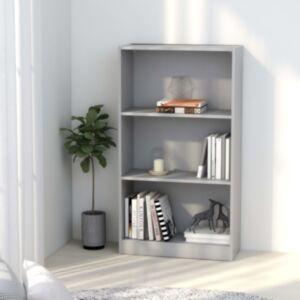 Pood24 3-korruseline raamaturiiul hall 60x24x108 cm puitlaastplaat