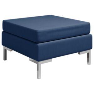 Pood24 sektsiooniline jalatugi padjaga, kangas, sinine