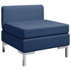 Pood24 sektsiooniline keskmine diivan padjaga, kangas, sinine