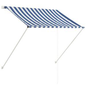 Pood24 sissetõmmatav varikatus, 100 x 150 cm, sinine ja valge