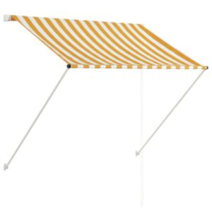 Pood24 kokkupandav varikatus, 100 x 150 cm, kollane ja valge