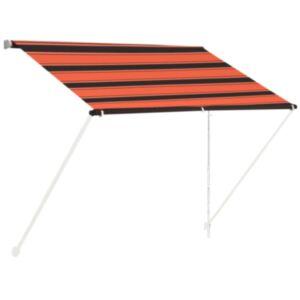 Pood24 sissetõmmatav varikatus, 100 x 150 cm, oranž ja pruun