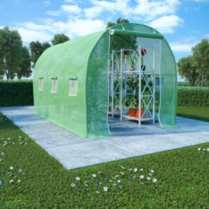 Pood24 kasvuhoone terasest vundamendiga 6,86 m² 3,43 x 2 x 2 m