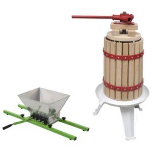 Pood24 2-osaline puuvilja- ja veinipressi ning purustaja komplekt