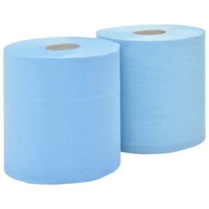 Pood24 2-kihiline tööstuslik majapidamispaber, 2 rulli, 20 cm, sinine