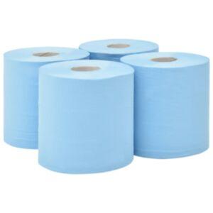 Pood24 2-kihiline tööstuslik majapidamispaber, 4 rulli, 20 cm, sinine