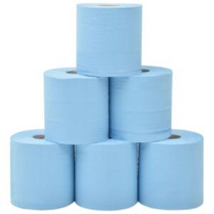 Pood24 2-kihiline tööstuslik majapidamispaber, 6 rulli, 20 cm, sinine